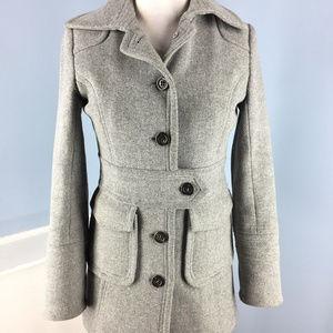 J Crew Xs 0 Double Cloth Wool Long lady day Coat